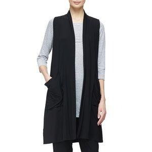 Eileen Fisher Sleeveless Lightweight Long Vest